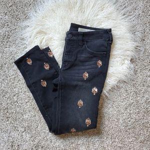 Anthropologie Embellished Jeans